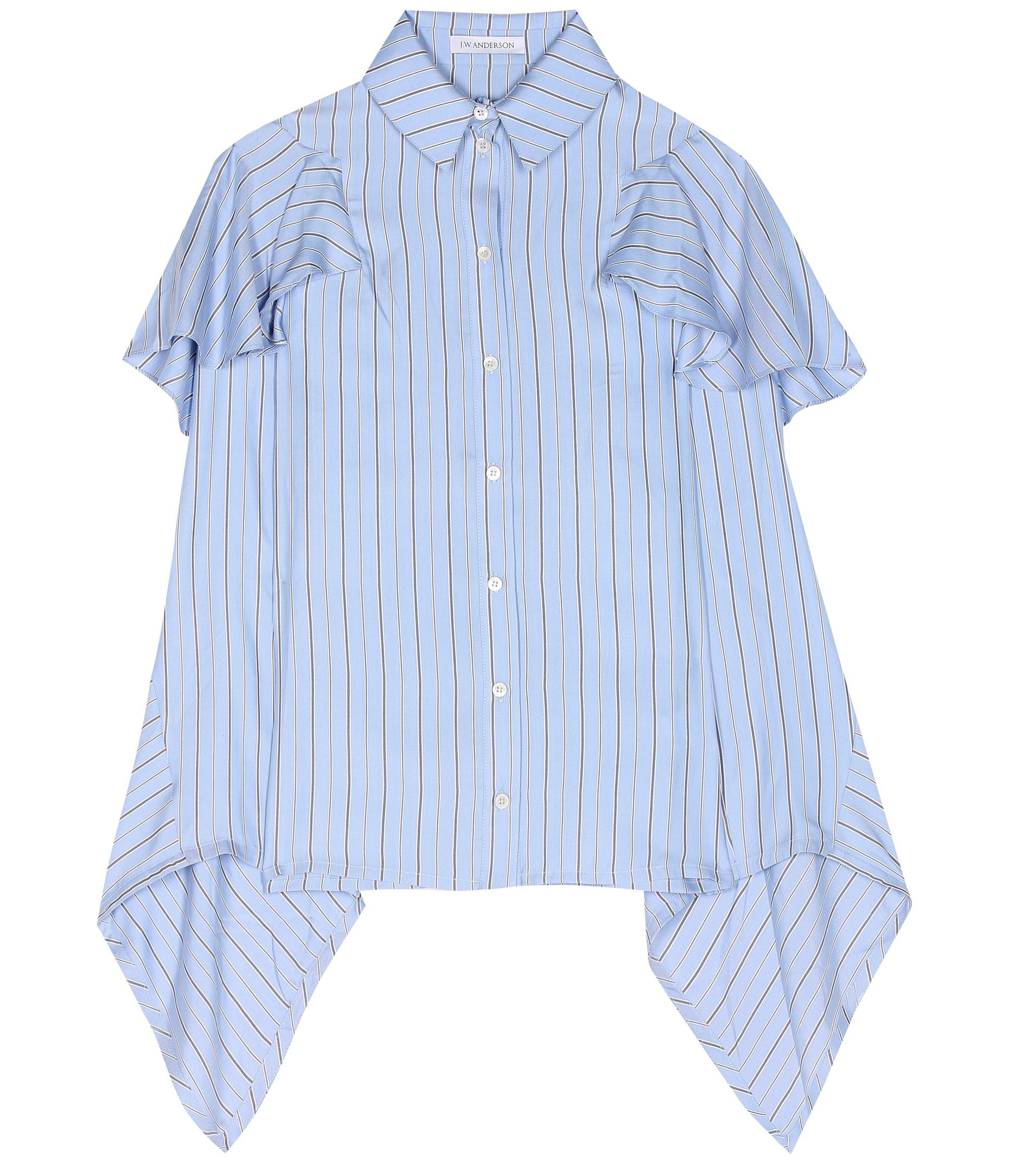 Striped silk blouse J.W.Anderson Fashionable Online New Arrival Cheap Online Amazing Price 3ouobUn9P