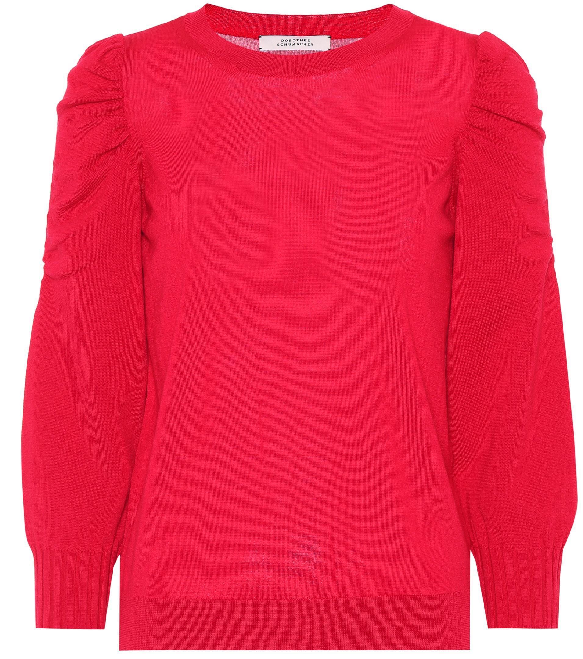 lyst dorothee schumacher tender transit virgin wool sweater in red. Black Bedroom Furniture Sets. Home Design Ideas