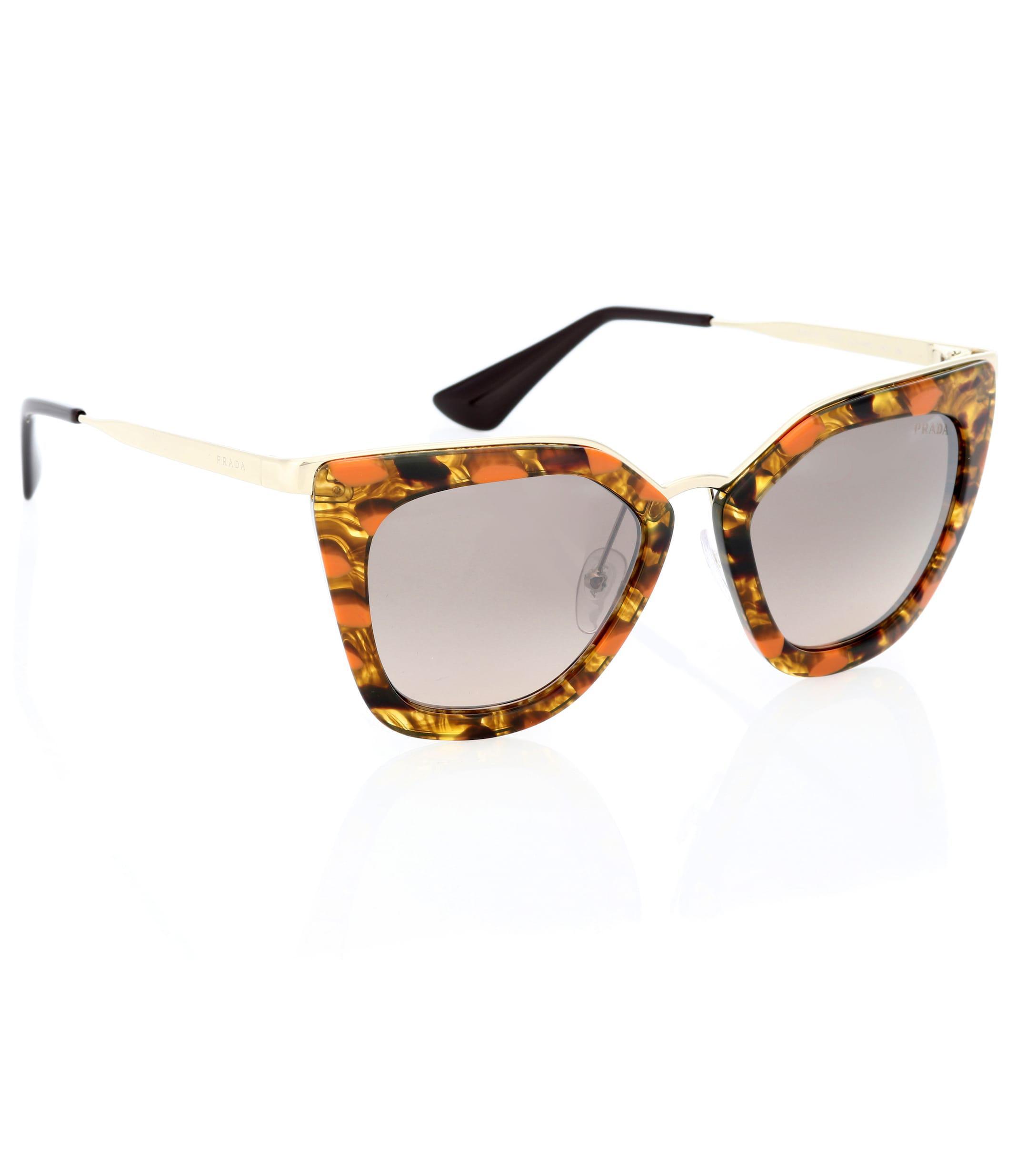 03b6f36072 Prada - Brown Cinéma Cat-eye Sunglasses - Lyst. View fullscreen