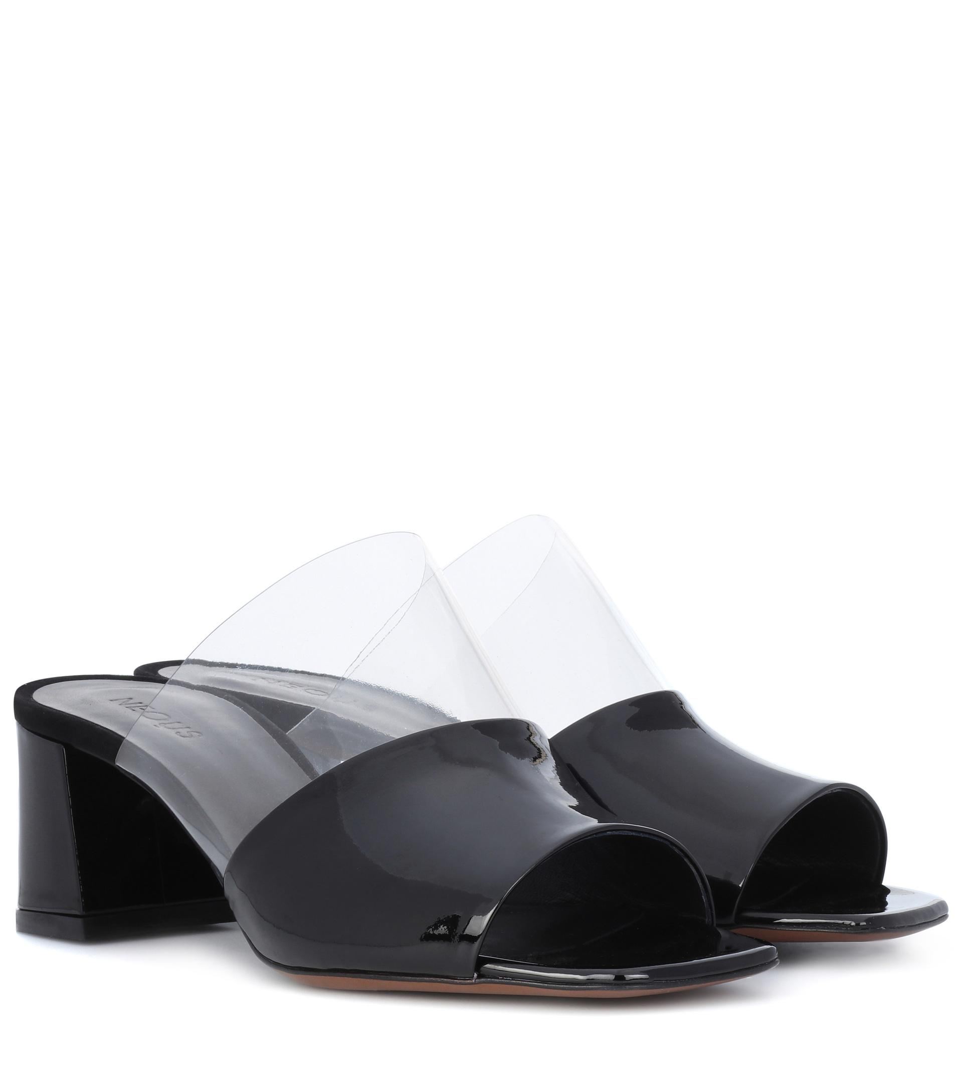 Chost Perspex and Leather Sandals Neous