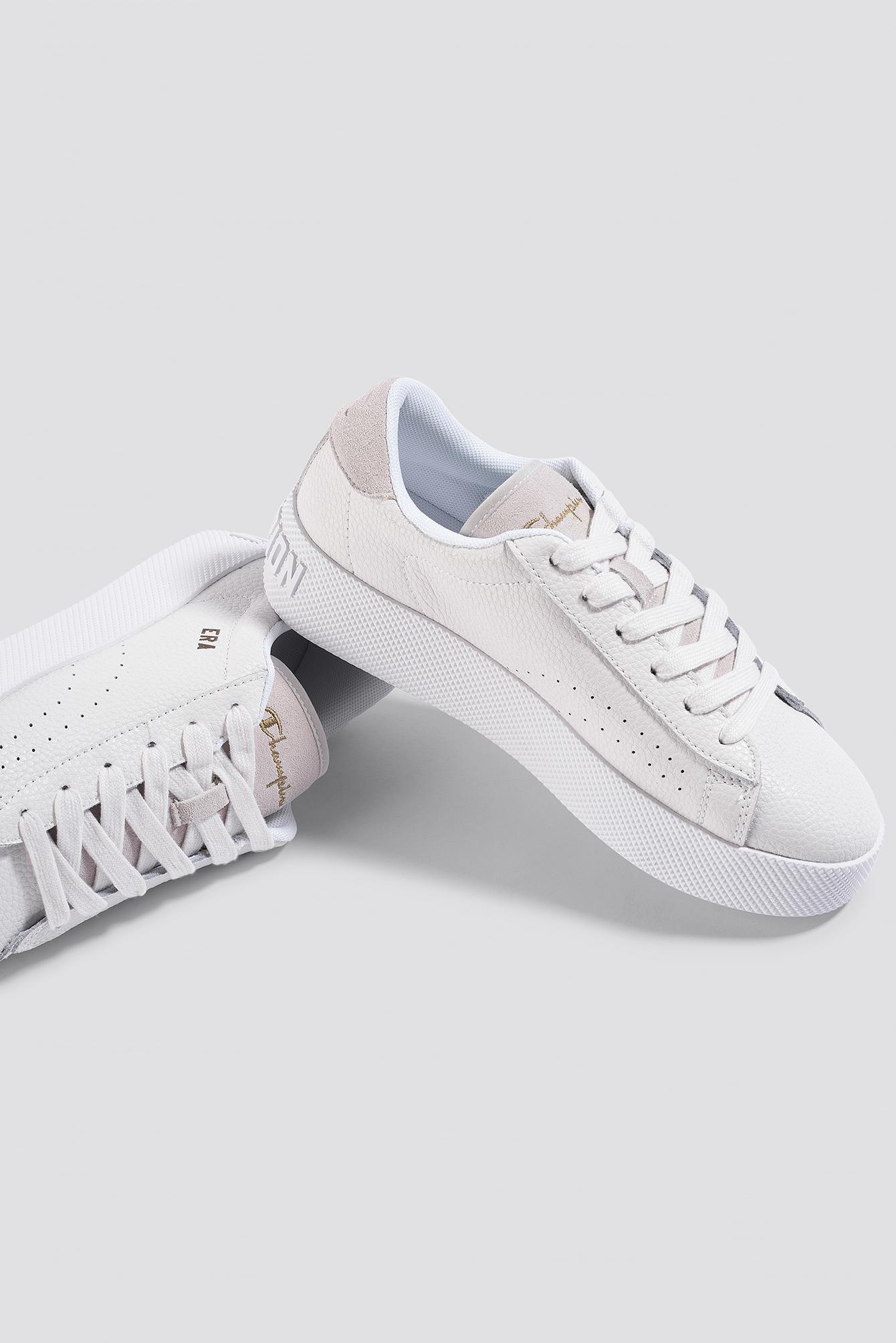 a0d0e807e7b9d Lyst - Champion Era Leather Sneaker S10535 White in White