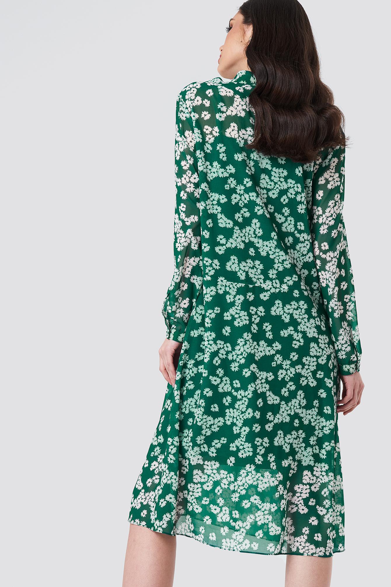 Green In Lyst Merritt amp; Samsøe Aop Daisy Dress Ls fp0qw