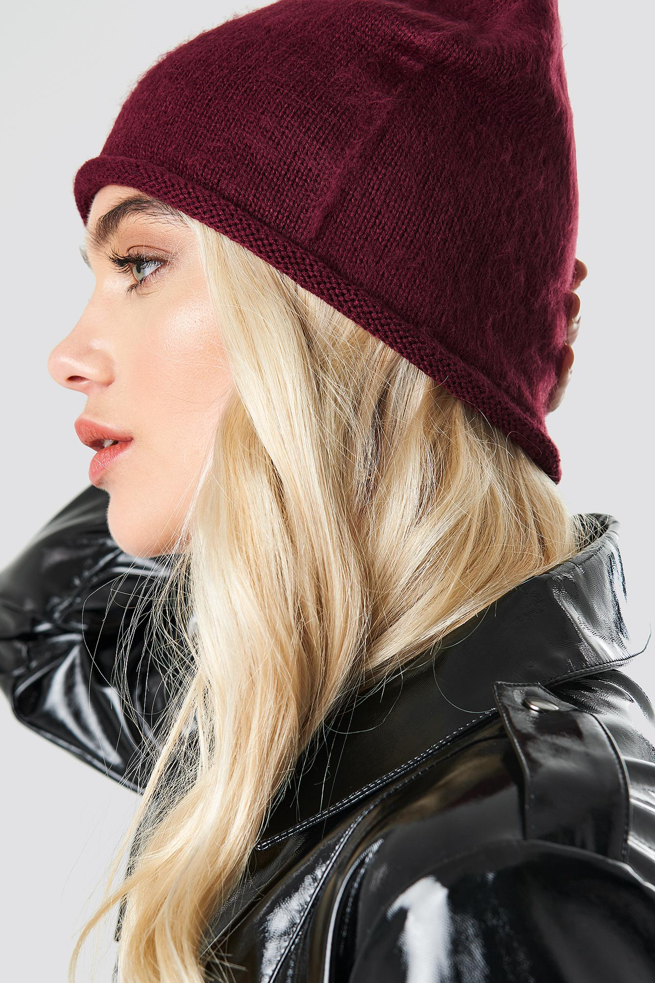 Lyst - Rut Circle Savanna Roll Up Beanie Wine Red in Red 380499a3cf20