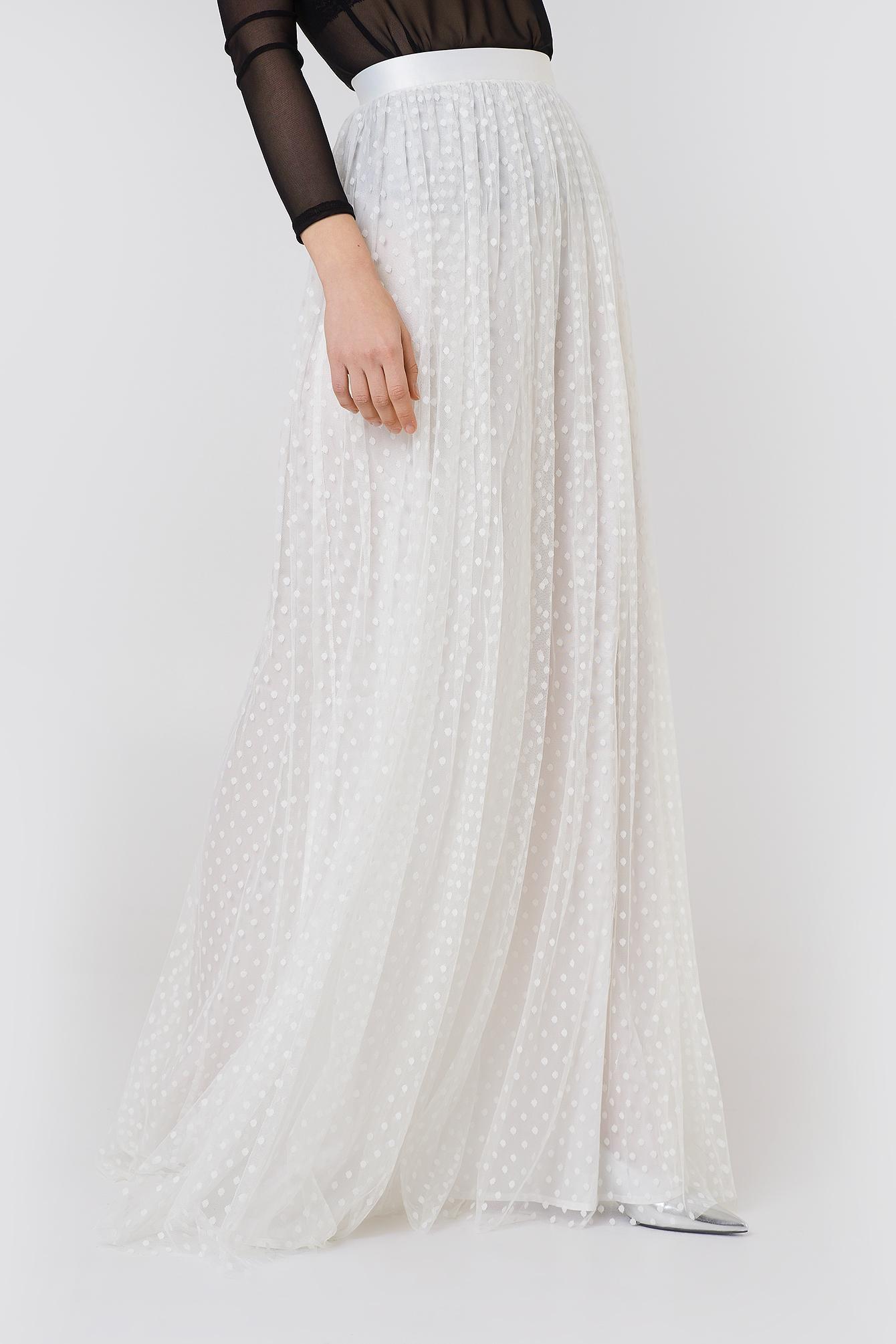 f0415766 Ida Sjöstedt Poppy Skirt White in White - Lyst