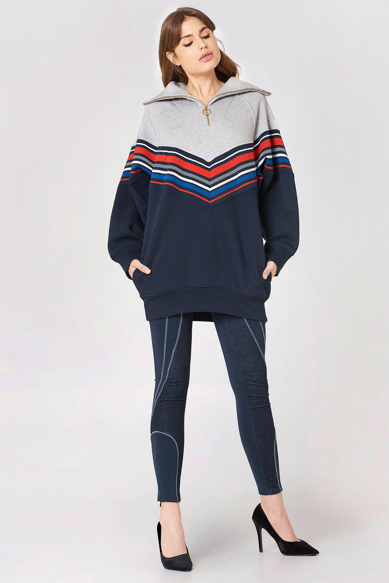 290d1f8f08e Tommy Hilfiger Gigi Hadid Racing Ls Sweat Dress in Gray - Lyst