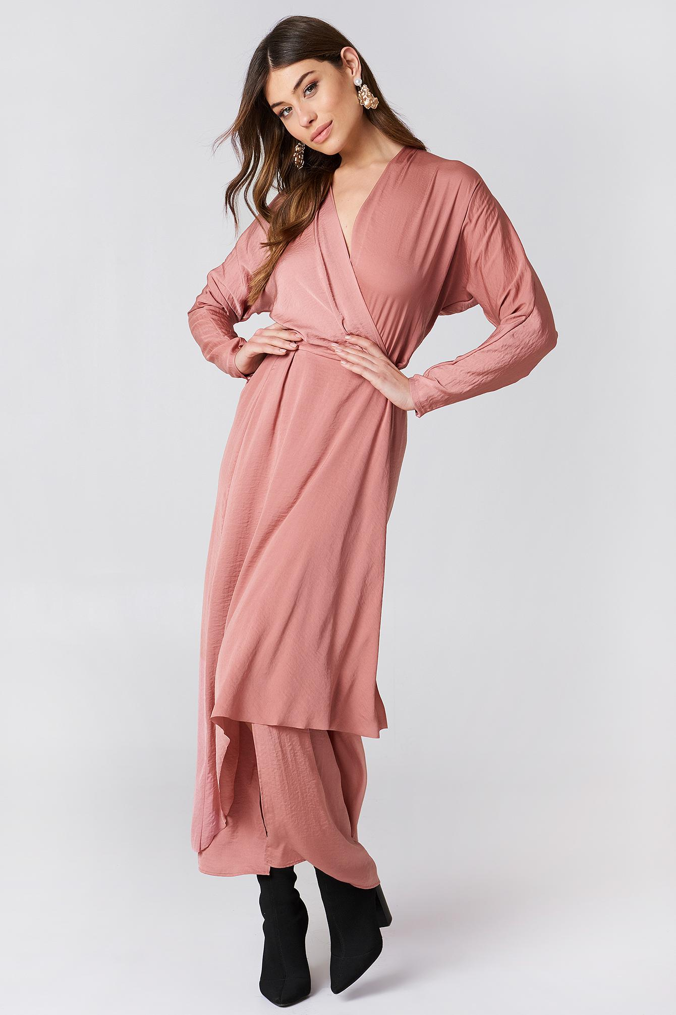 filippa k silk wrap dress