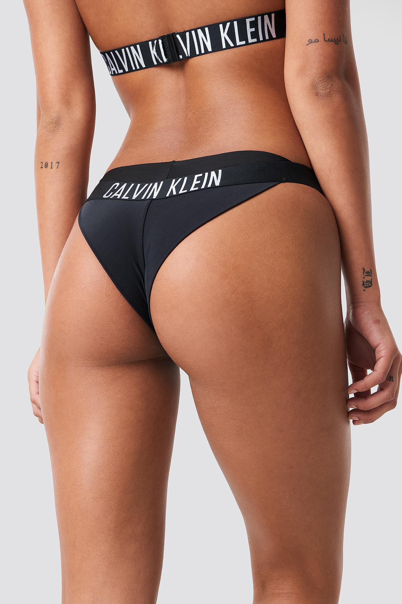 bad1320700 Lyst - Calvin Klein Brazilian Bikini Bottom Pvh Black in Black