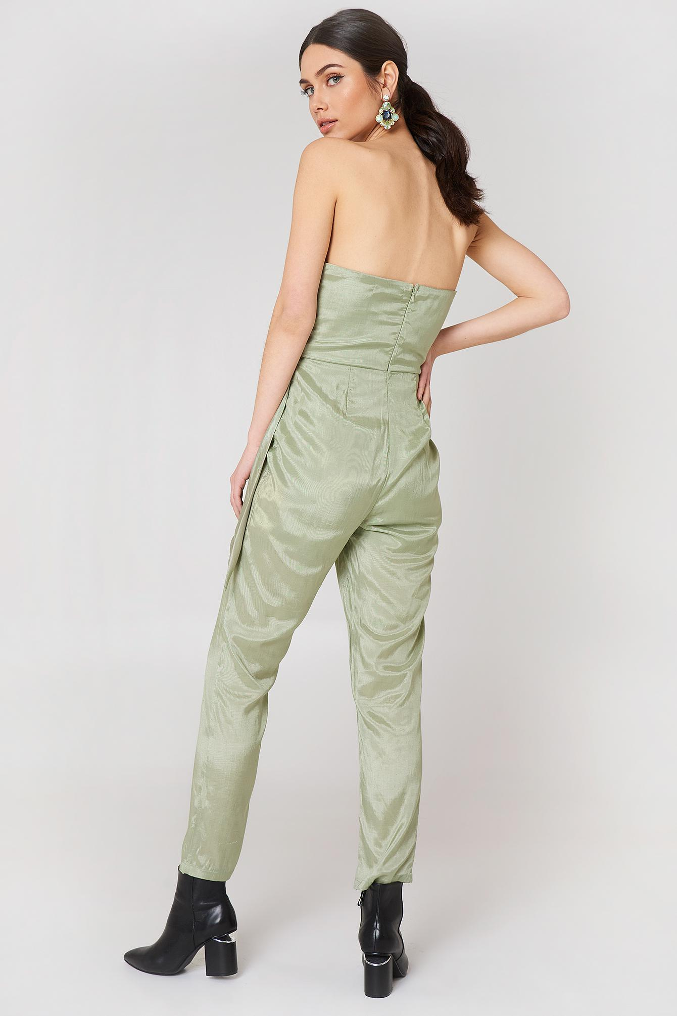 1cf5c3fc0e8 Lyst - Glamorous Bandeau Jumpsuit Sage Green in Green