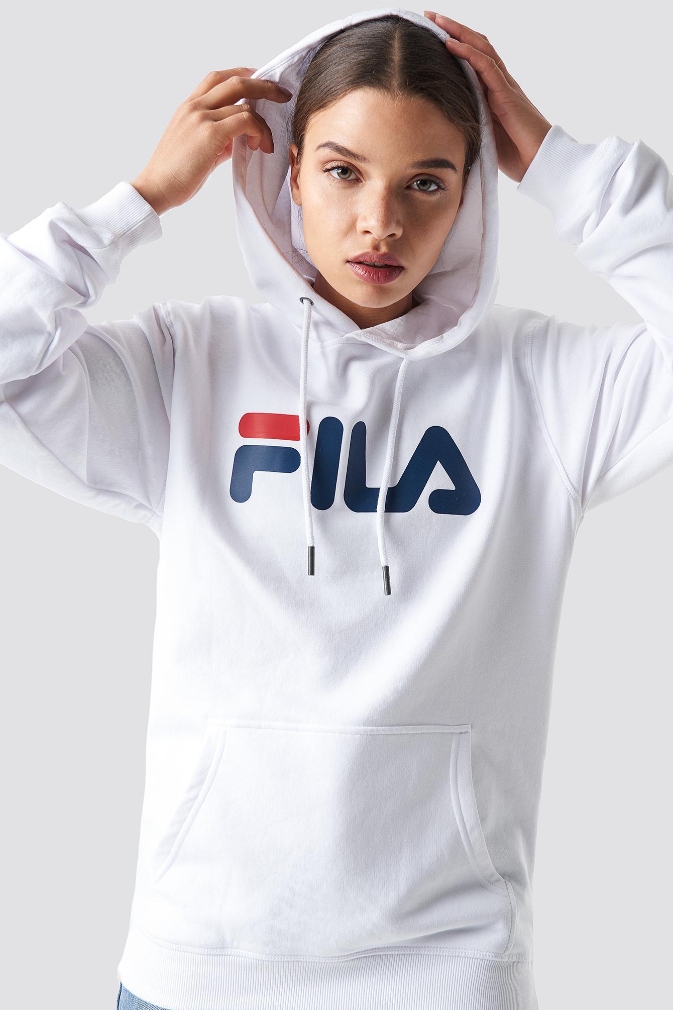 a3edd00b03b Fila Classic Pure Hoody Kangaroo Bright White in White - Lyst