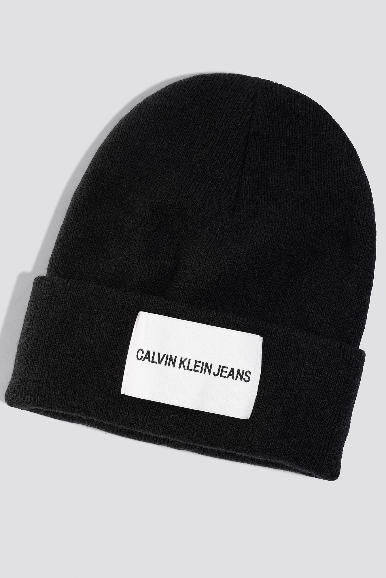 Lyst - Calvin Klein J Jeans Beanie W Black Beauty in Black 68499a21f8b