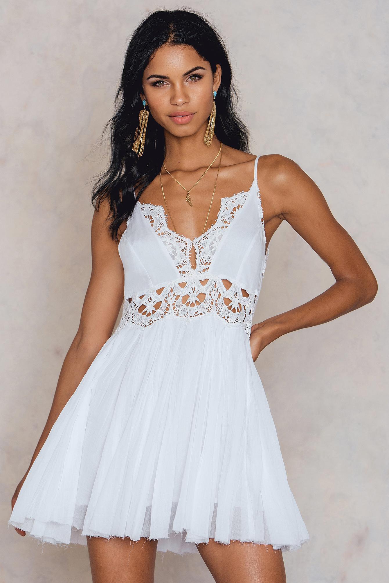 dc31e425a40c Free People Ilektra Mini Dress in White - Lyst