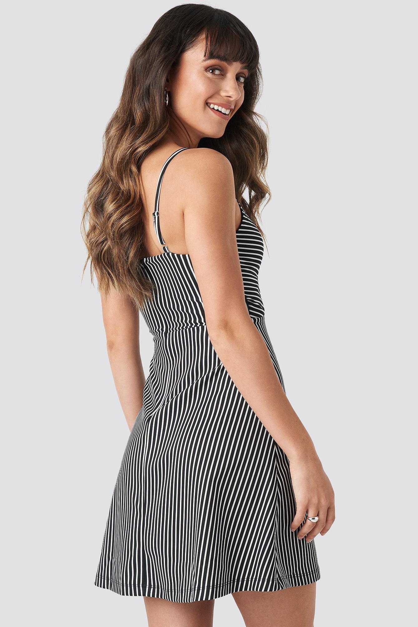 ea527741037 Trendyol - Stripe Mini Dress Black - Lyst. View fullscreen