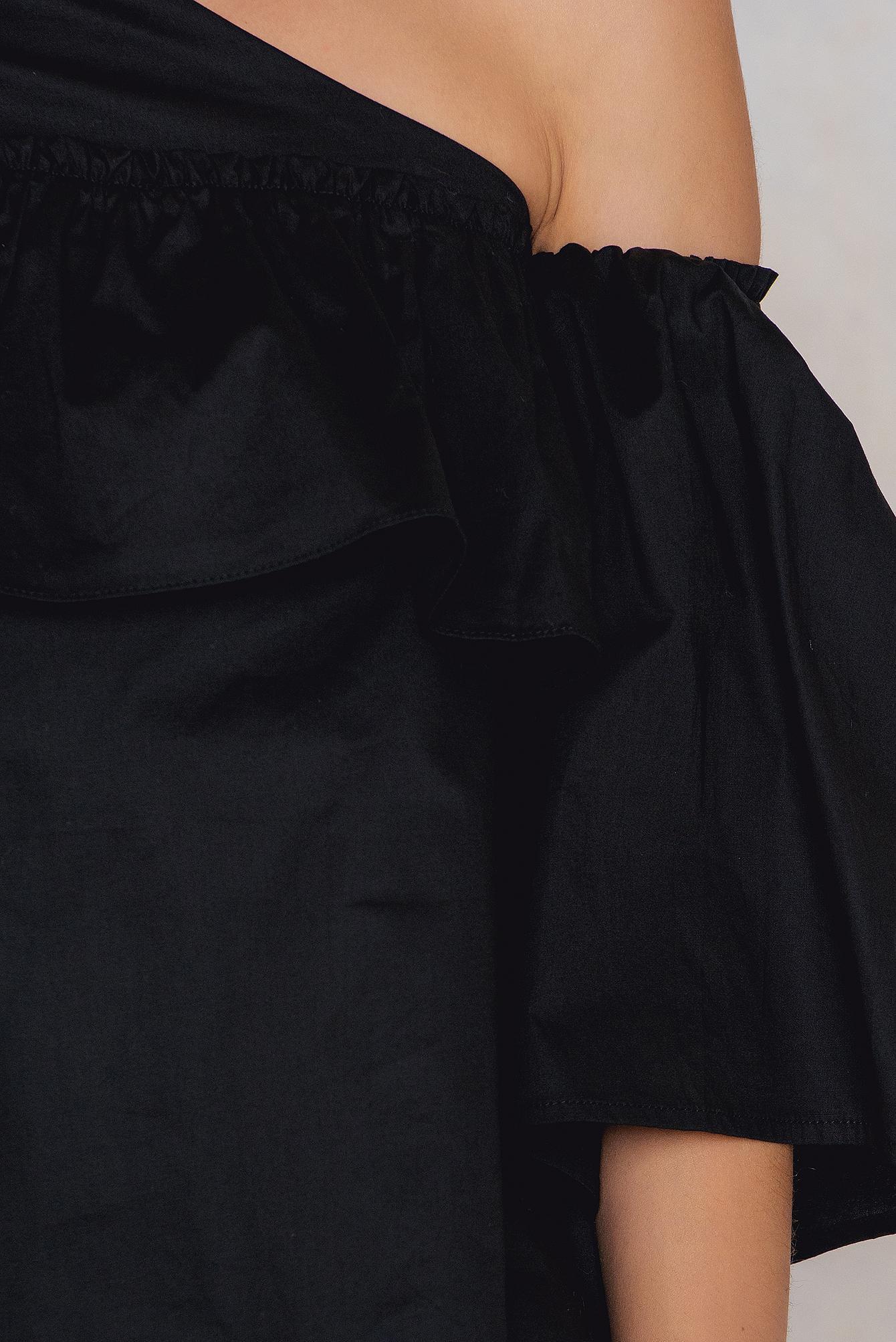 ecbe4376ae4eda Lucca Couture - Black Adeline One Shoulder Ruffle Top - Lyst. View  fullscreen
