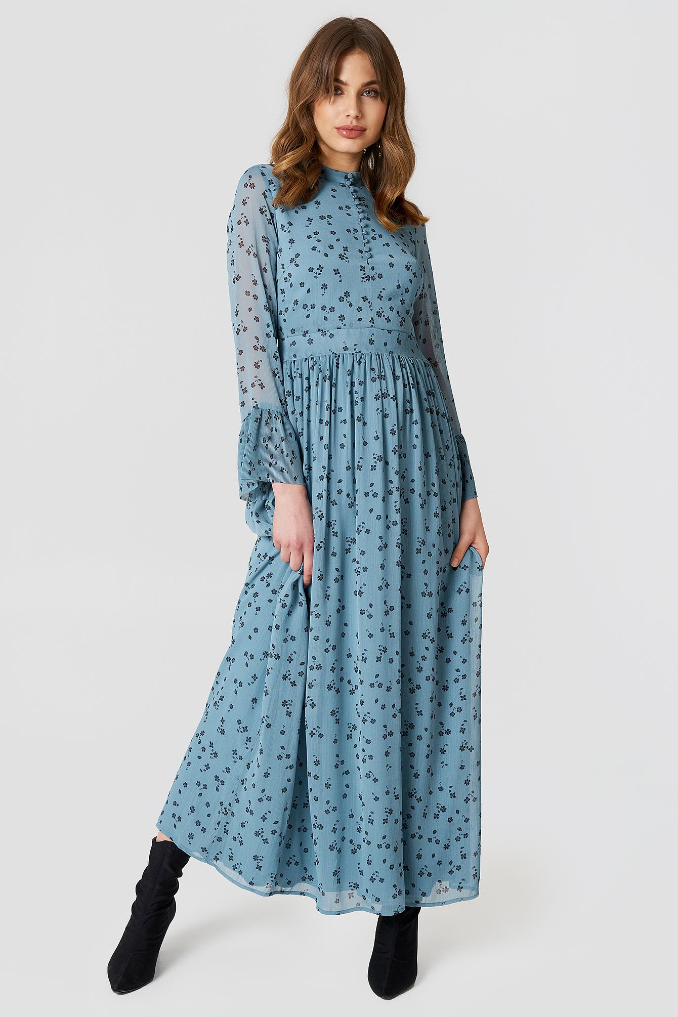 720827d68c9 Gestuz Jeanett Long Dress in Blue - Lyst