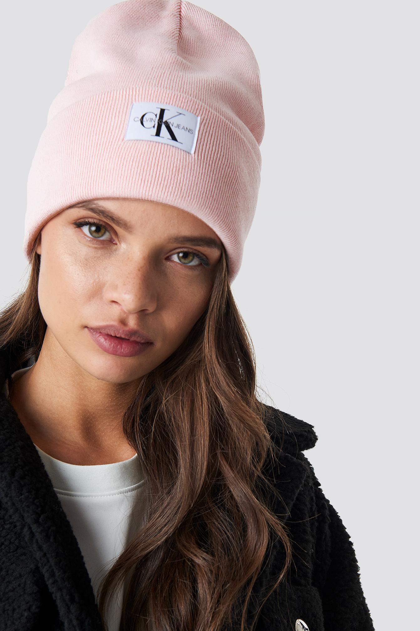 Lyst - Calvin Klein J Monogram Beanie W Peachy Keen cb601044674