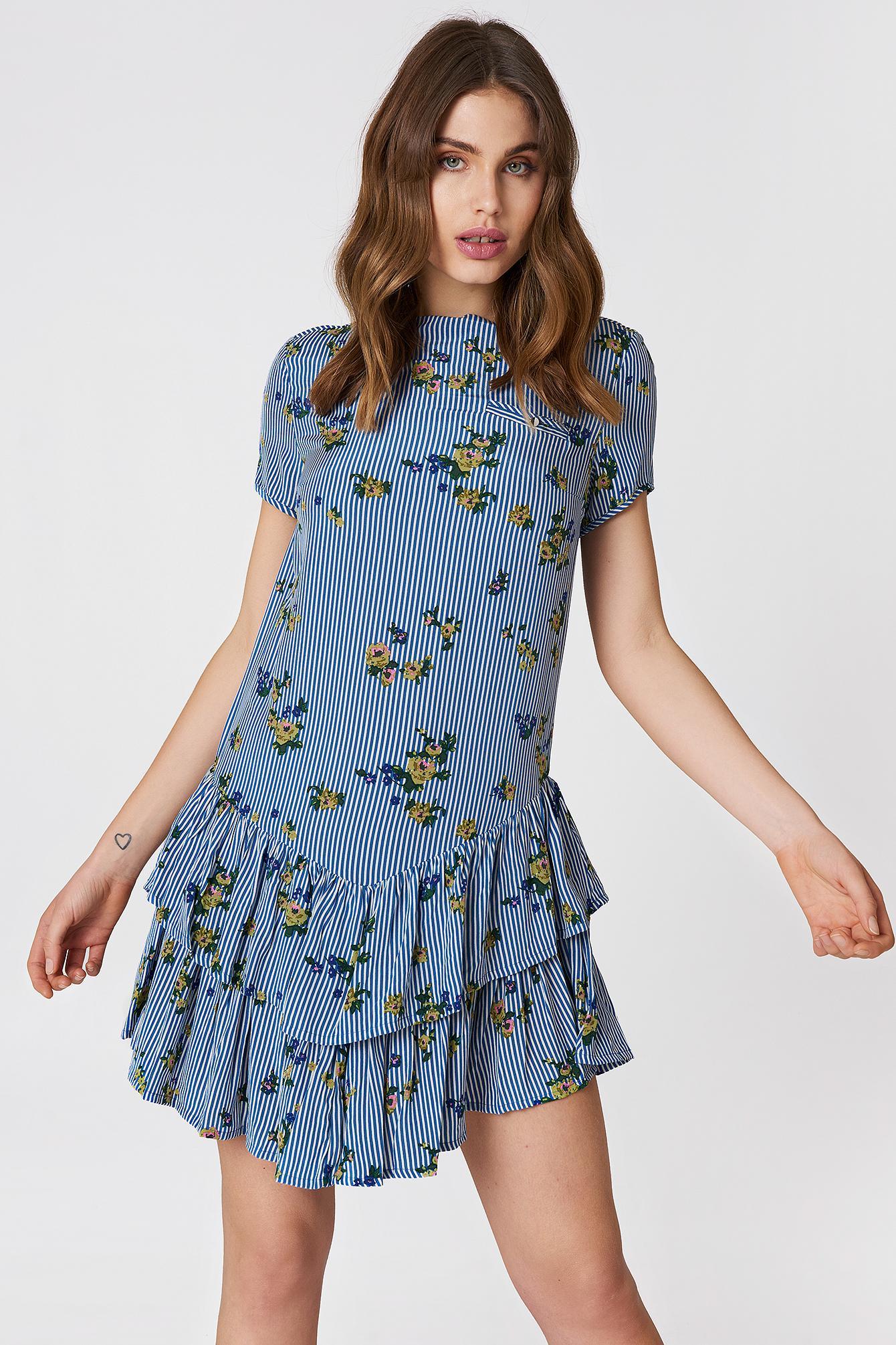 499de99cfd2 Baum und Pferdgarten Abbeline Dress Roses stripes in Blue - Lyst