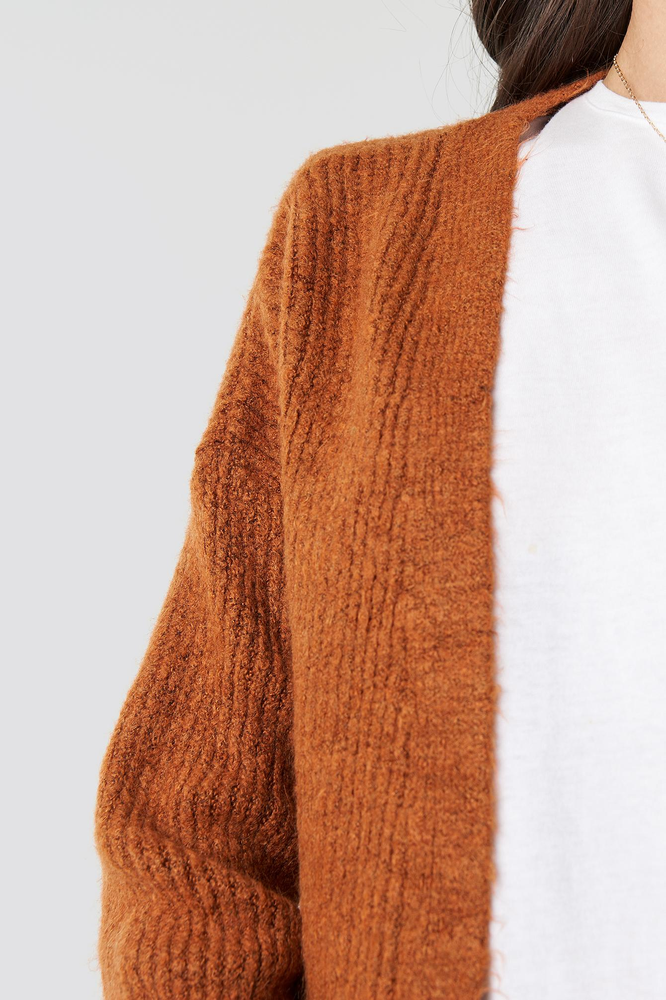 c217651db901ba ... Milla Knitted Cardigan Tobacco - Lyst. View fullscreen