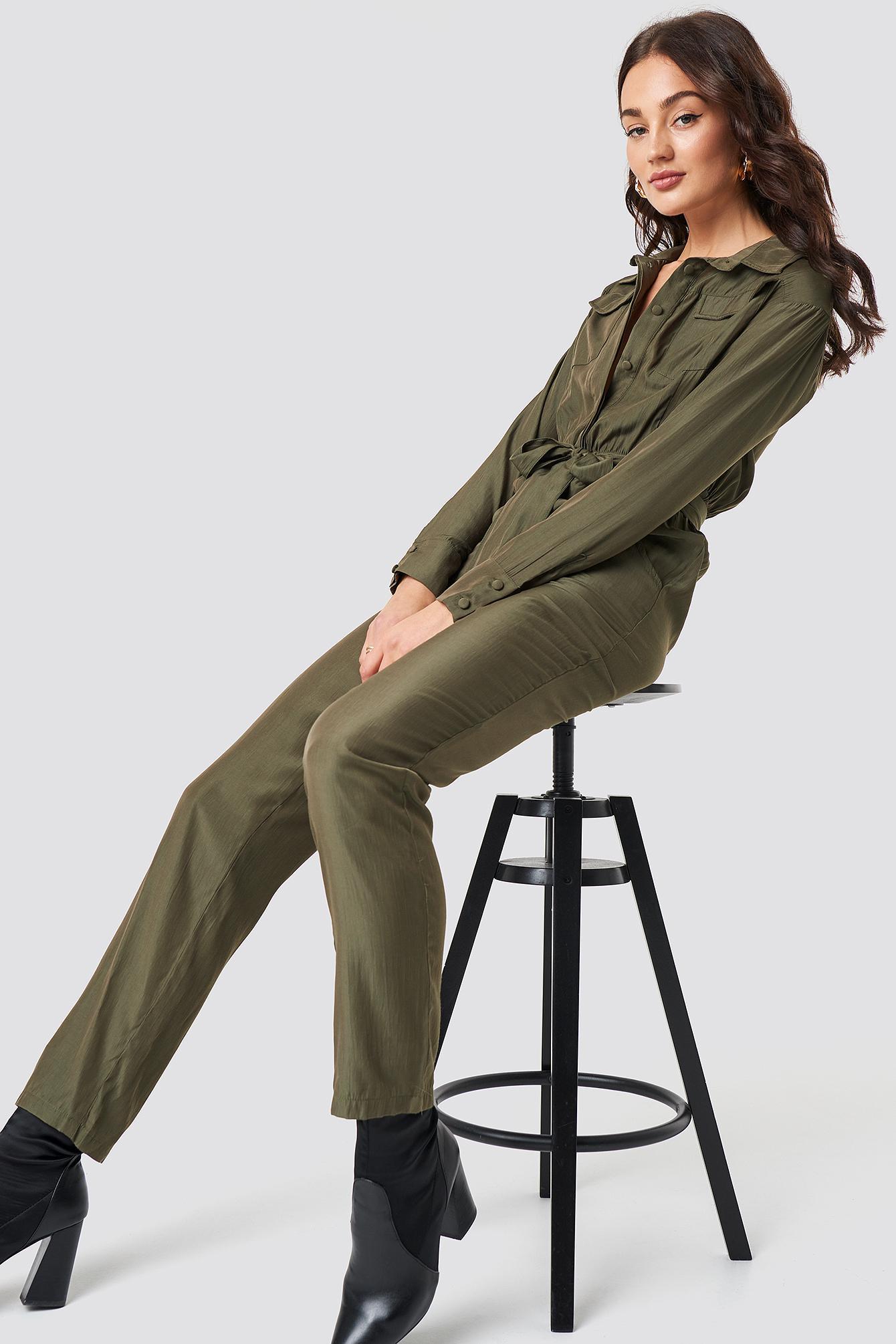 9d92c2f3a0b Lioness Lara Jumpsuit Khaki in Green - Lyst