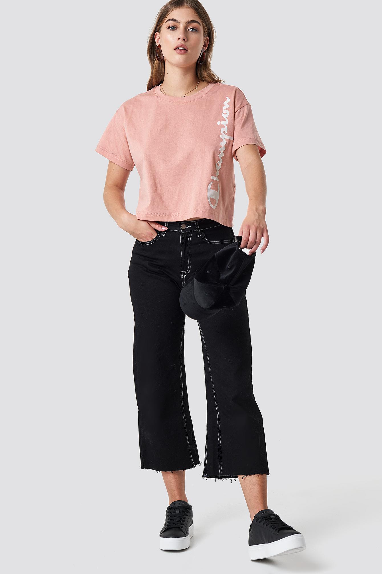 929ba2d0c214 Lyst - Champion Crewneck Crop Top Rose Tan in Pink