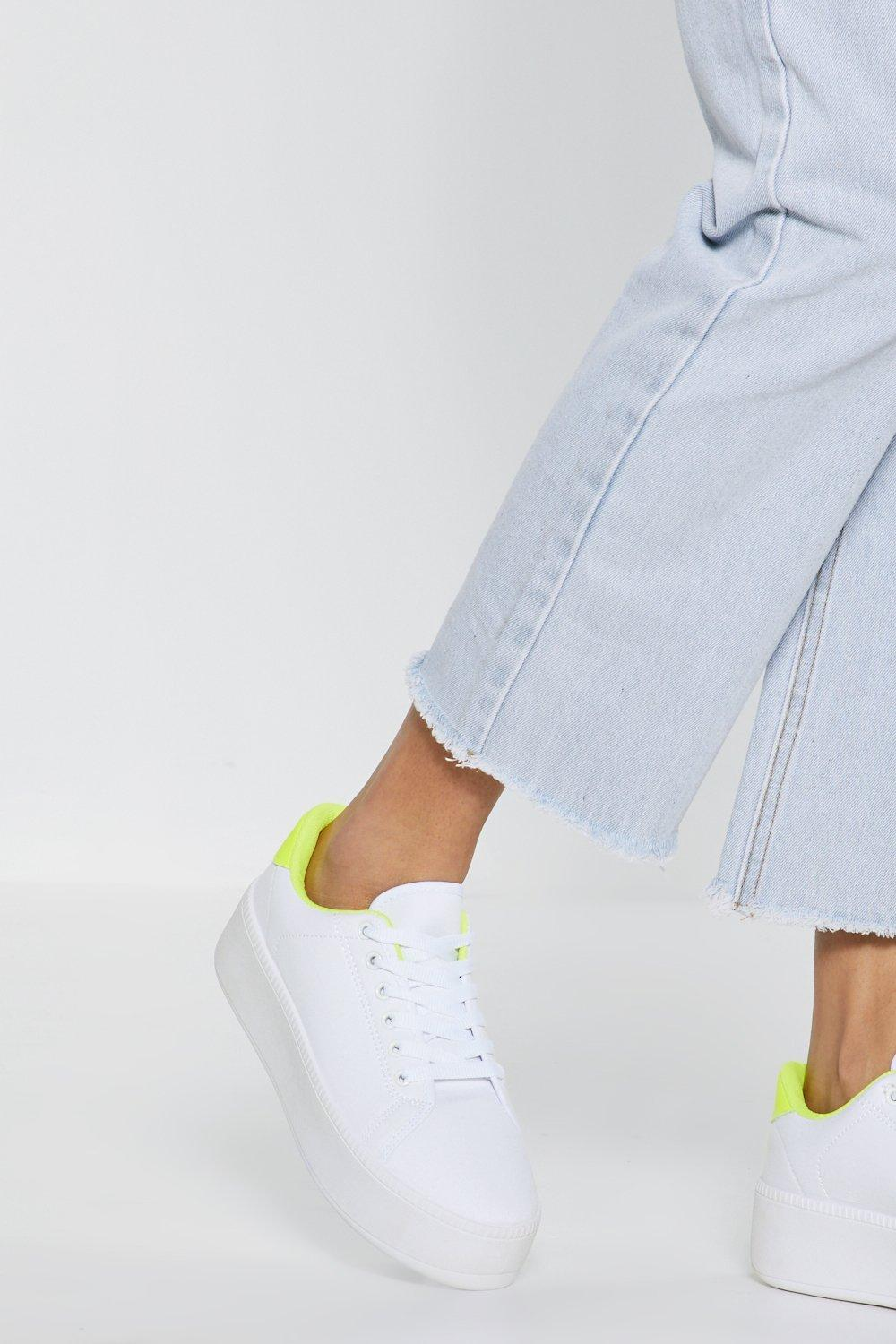 328dac356 Nasty Gal Light Up Your Life Platform Sneakers in White - Lyst