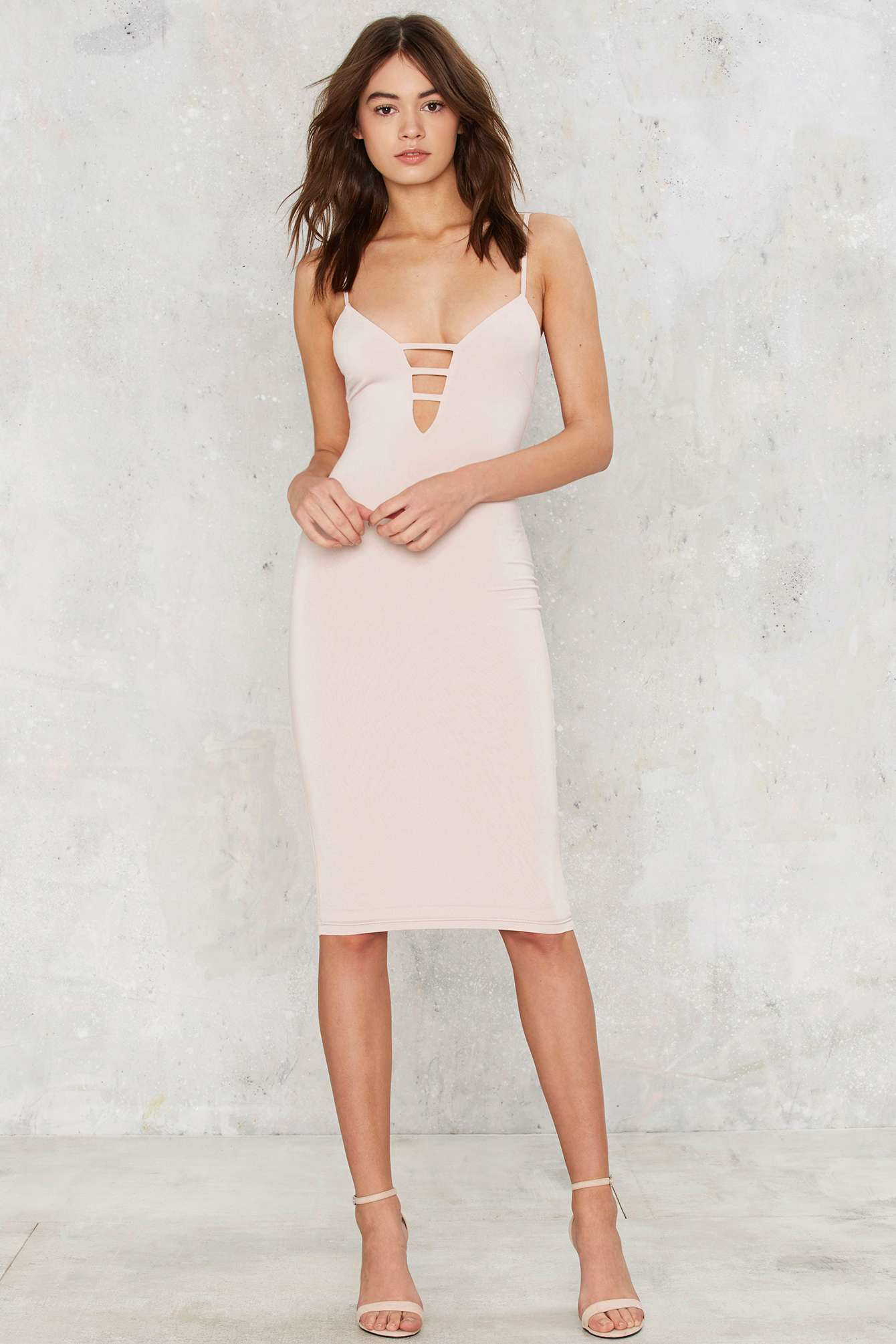 Nasty Gal Pushing The Limit Bodycon Dress - Nude In Natural  Lyst-8335