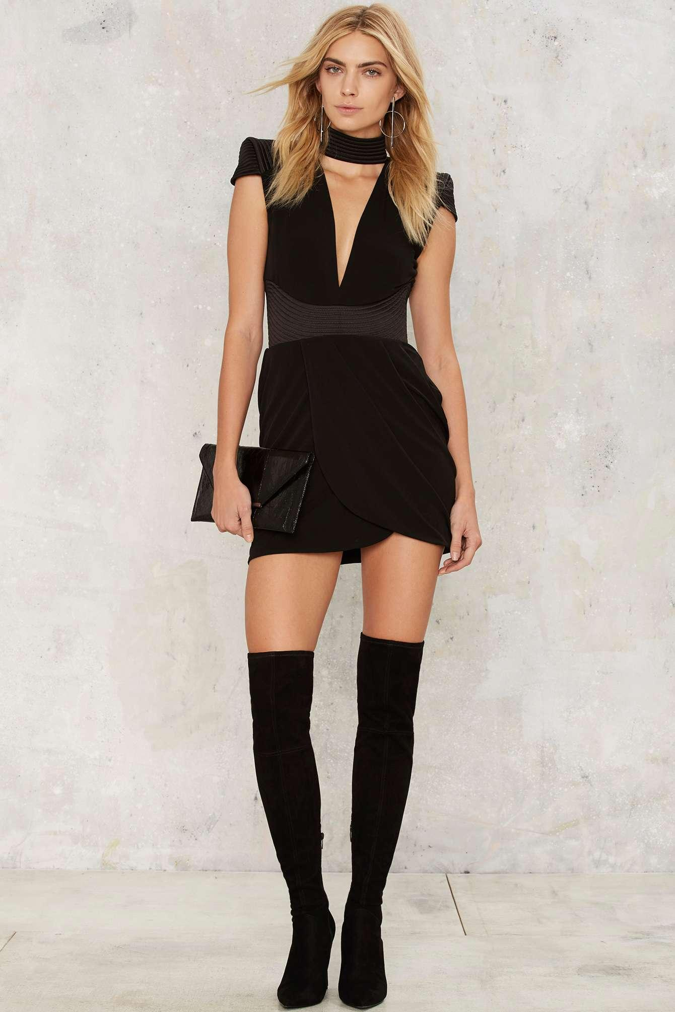 Lyst Nasty Gal Zhivago Swallow Mini Dress Black In Black