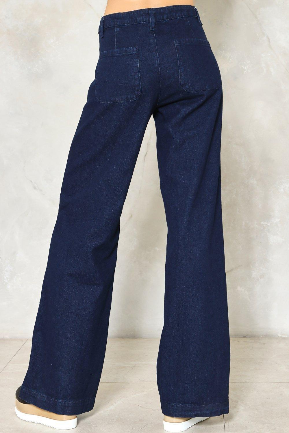 Nasty Gal Go Far Wide Leg Jeans Go Far Wide Leg Jeans In