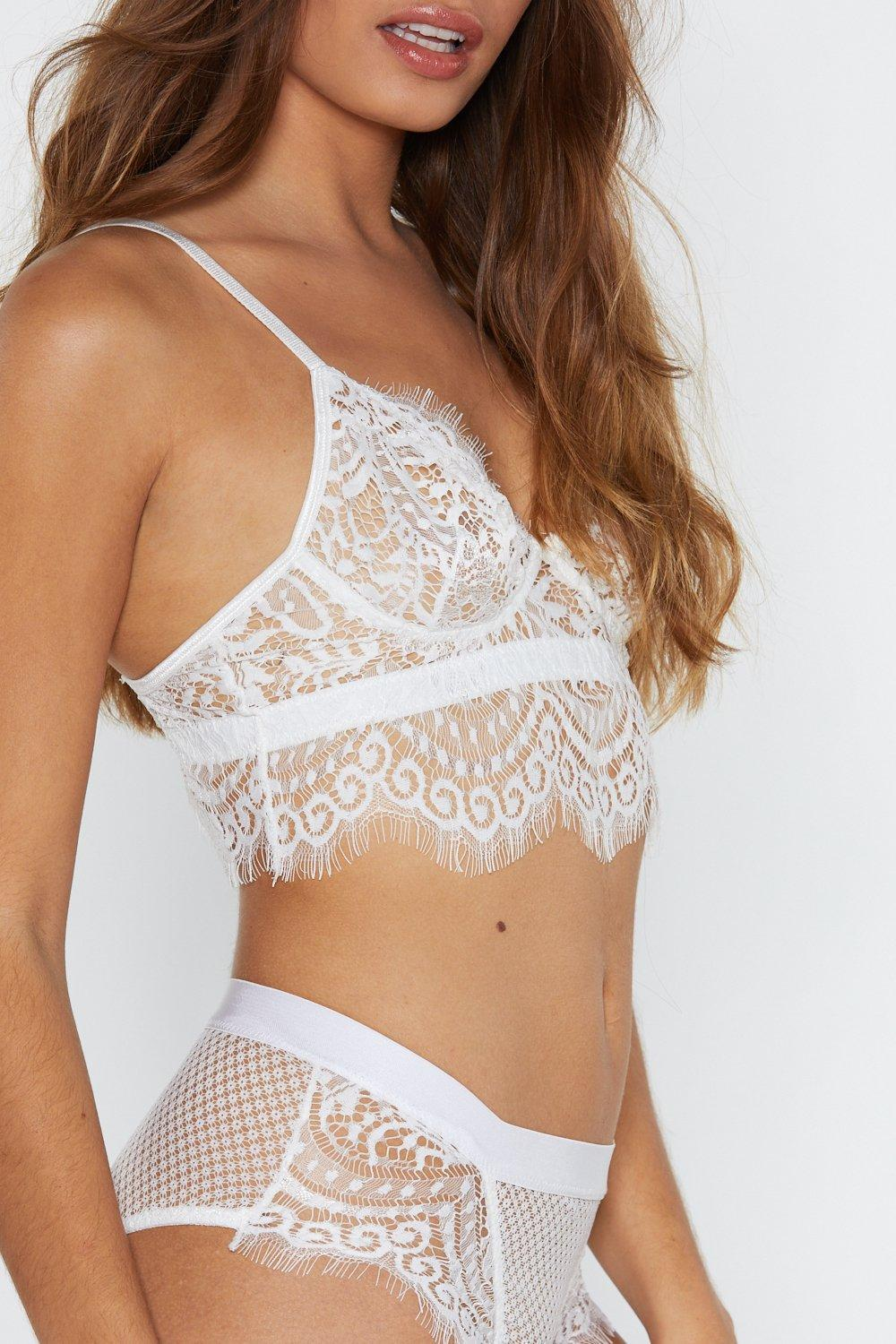 76dd93d5a45 ... God Is A Woman Strappy Lace Bralette And Panty Set - Lyst. View  fullscreen