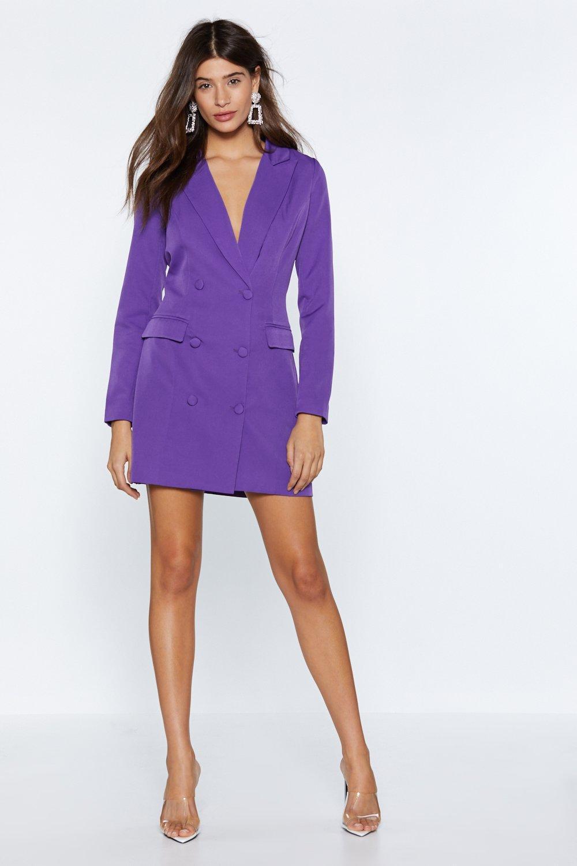 8a72b55256e Nasty Gal I m Busy Blazer Dress in Purple - Lyst