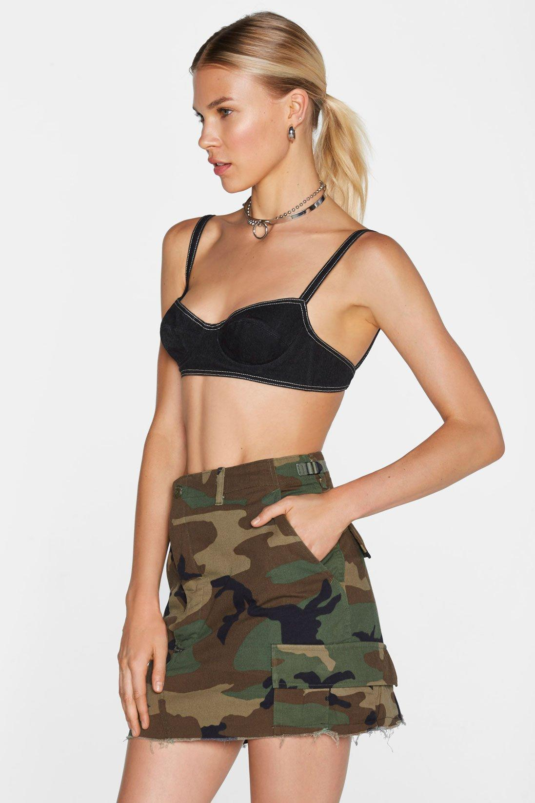 fee33f7d9de73 Lyst - Nasty Gal After Party Vintage In The Trenches Camo Skirt ...