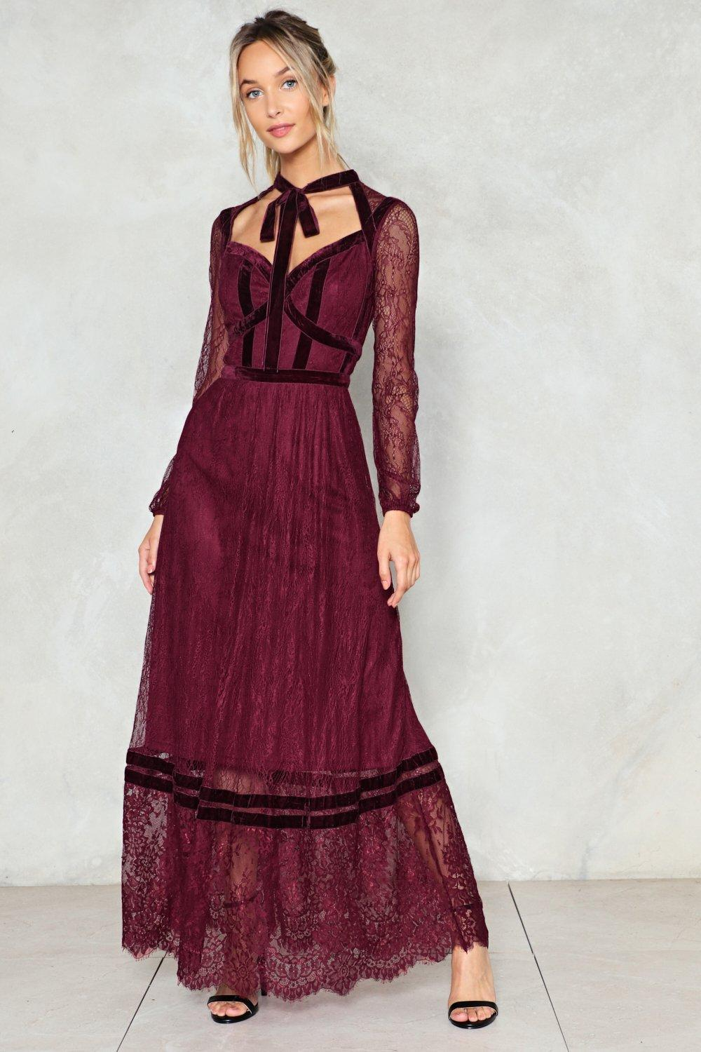 Lyst Nasty Gal Love Will Keep Us Together Lace Dress Love Will