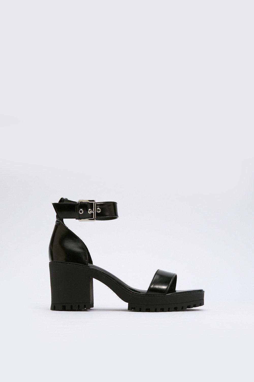 481e15ff7f64 ... Cleat It Fancy Faux Leather Sandals - Lyst. View fullscreen