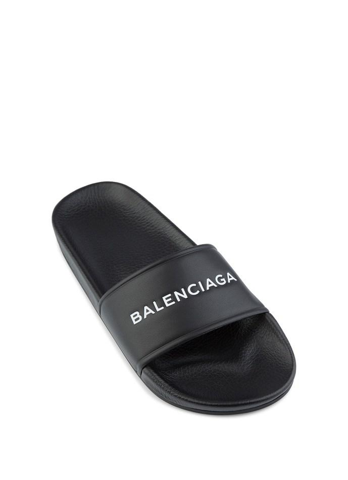 3cf84cc51348 Balenciaga - Black Leather Sandal - Lyst. View fullscreen