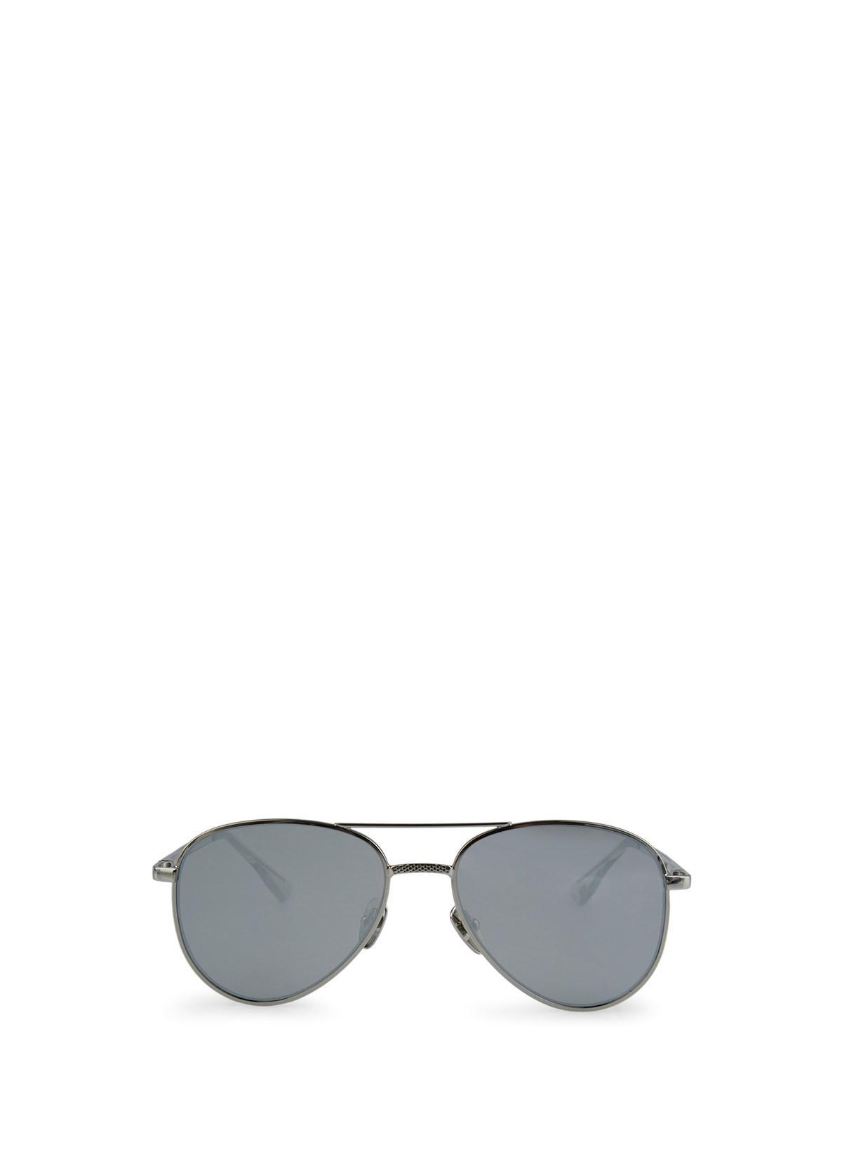 d4af2e53b Le Specs Luxe Imperium, Platinum Sunglasses in White - Lyst