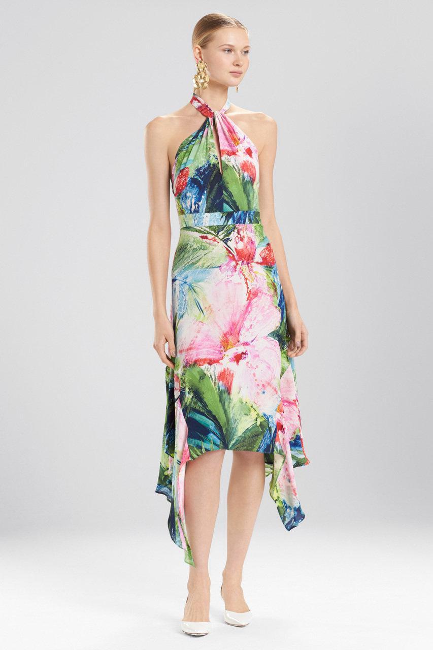 Sunset Palms slip dress - Green Natori G0Df8j