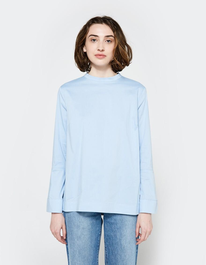 Just female Barb Blouse In Powder Blue in Blue | Lyst