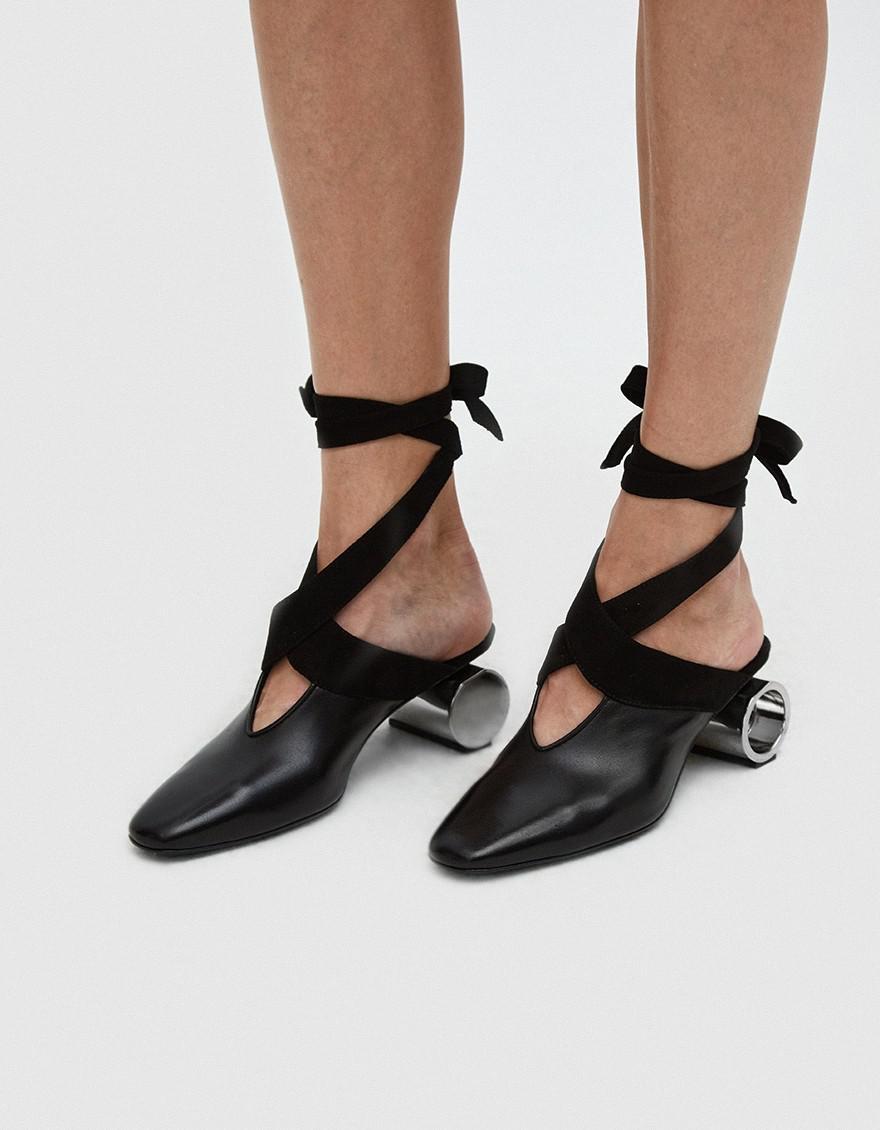Cylinder Heeled Leather Ballerina Shoes J.W.Anderson yhvM48jSP