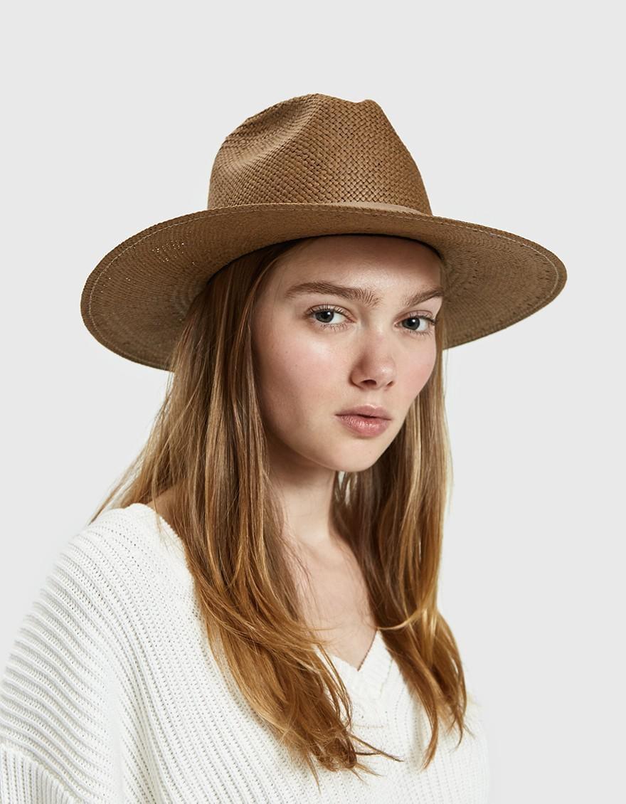 42f6cb87ab7f6 Janessa Leone Adriana Packable Straw Fedora in Brown - Lyst