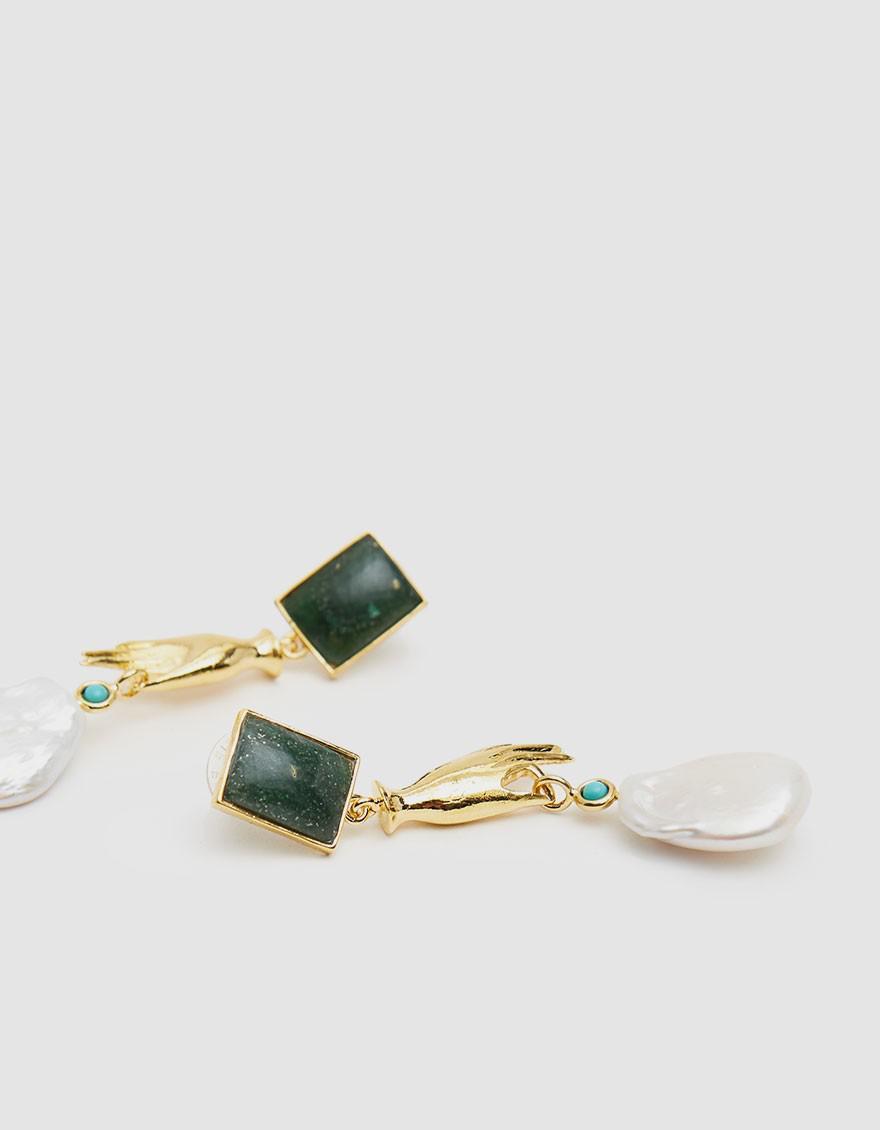4b5453ac2 Lizzie Fortunato Gentlewoman Drop Earrings in Metallic - Lyst