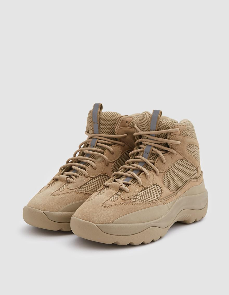 6c17dce38f2b8 Lyst - Yeezy Thick Suede Desert Boot In Taupe for Men