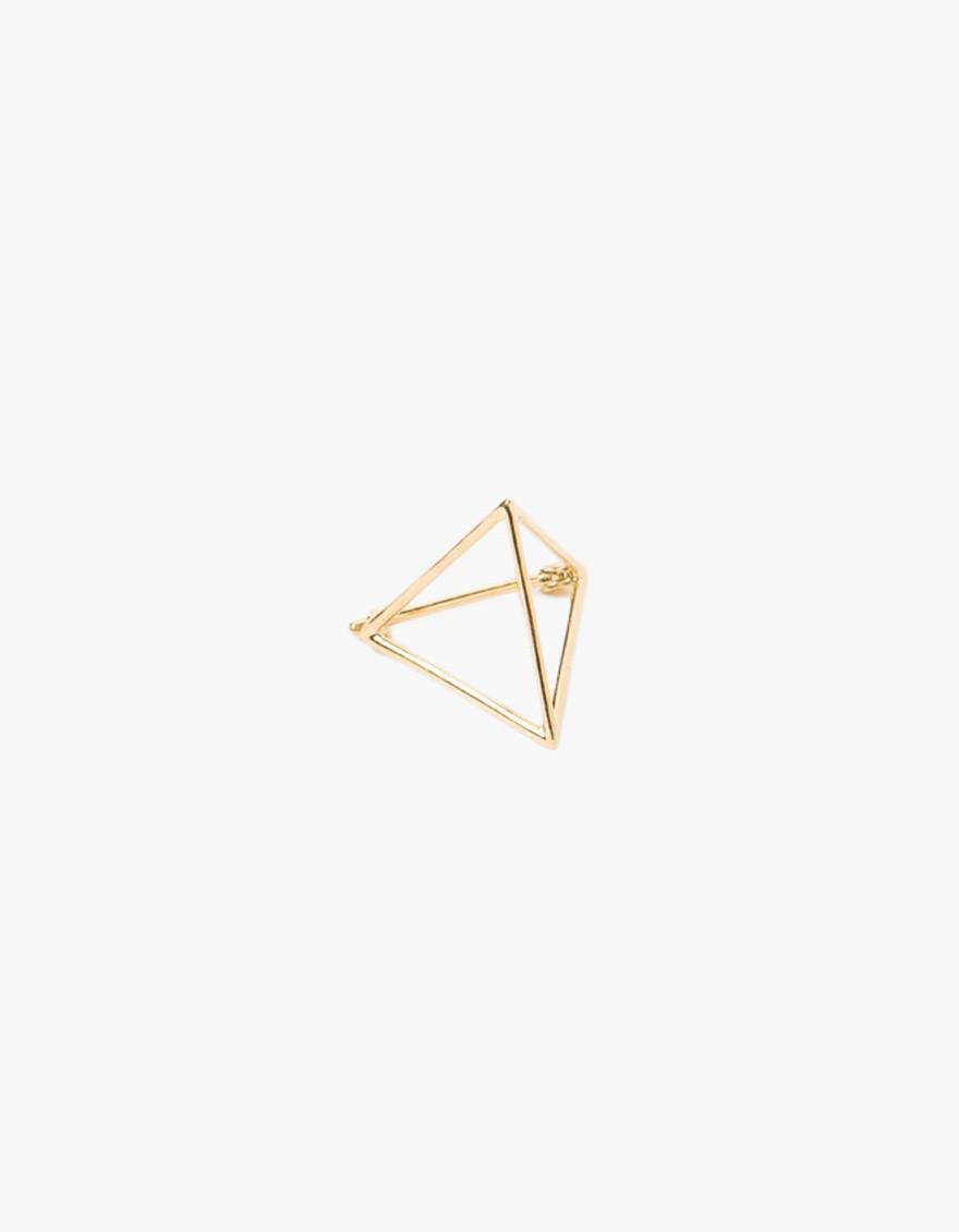 Shihara 18k yellow gold triangle earring Cheap Price For Sale xC4cK