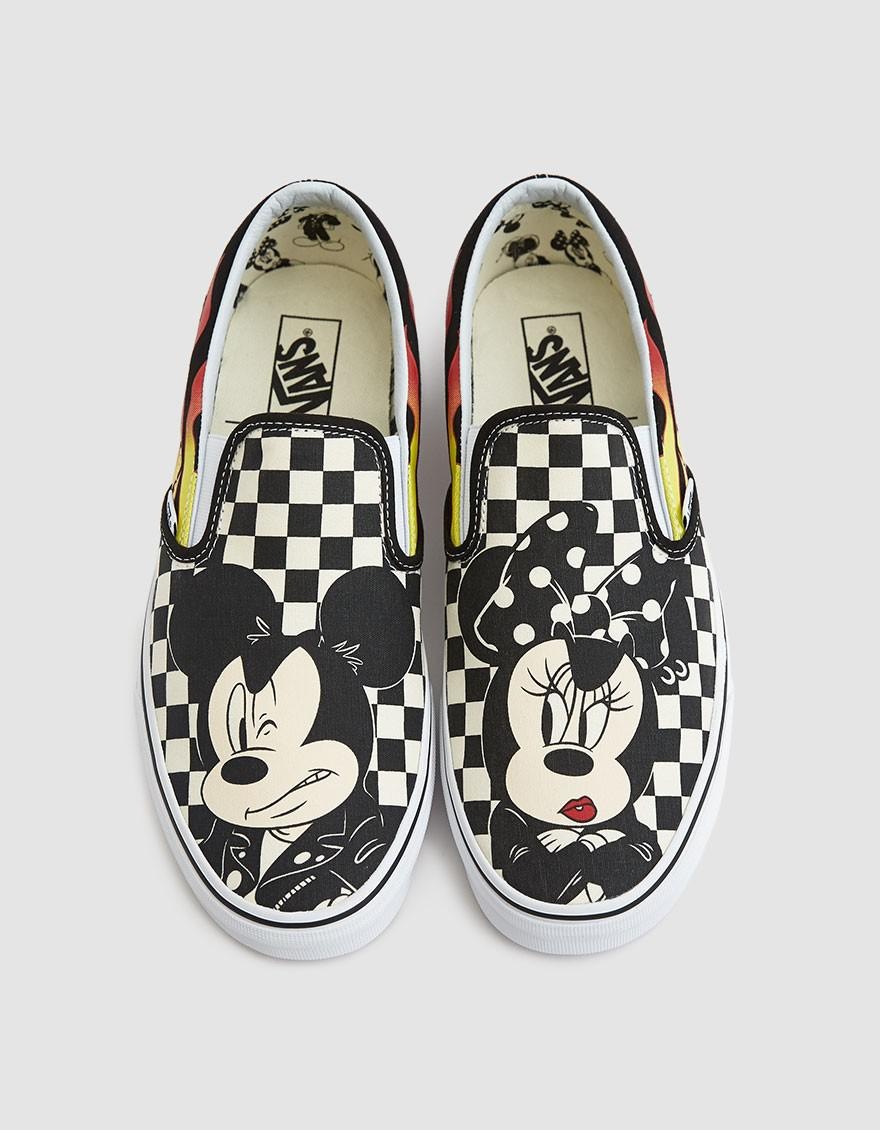 e85d70494882a9 Vans Disney Classic Slip-on Mickey   Minnie Sneaker for Men - Lyst