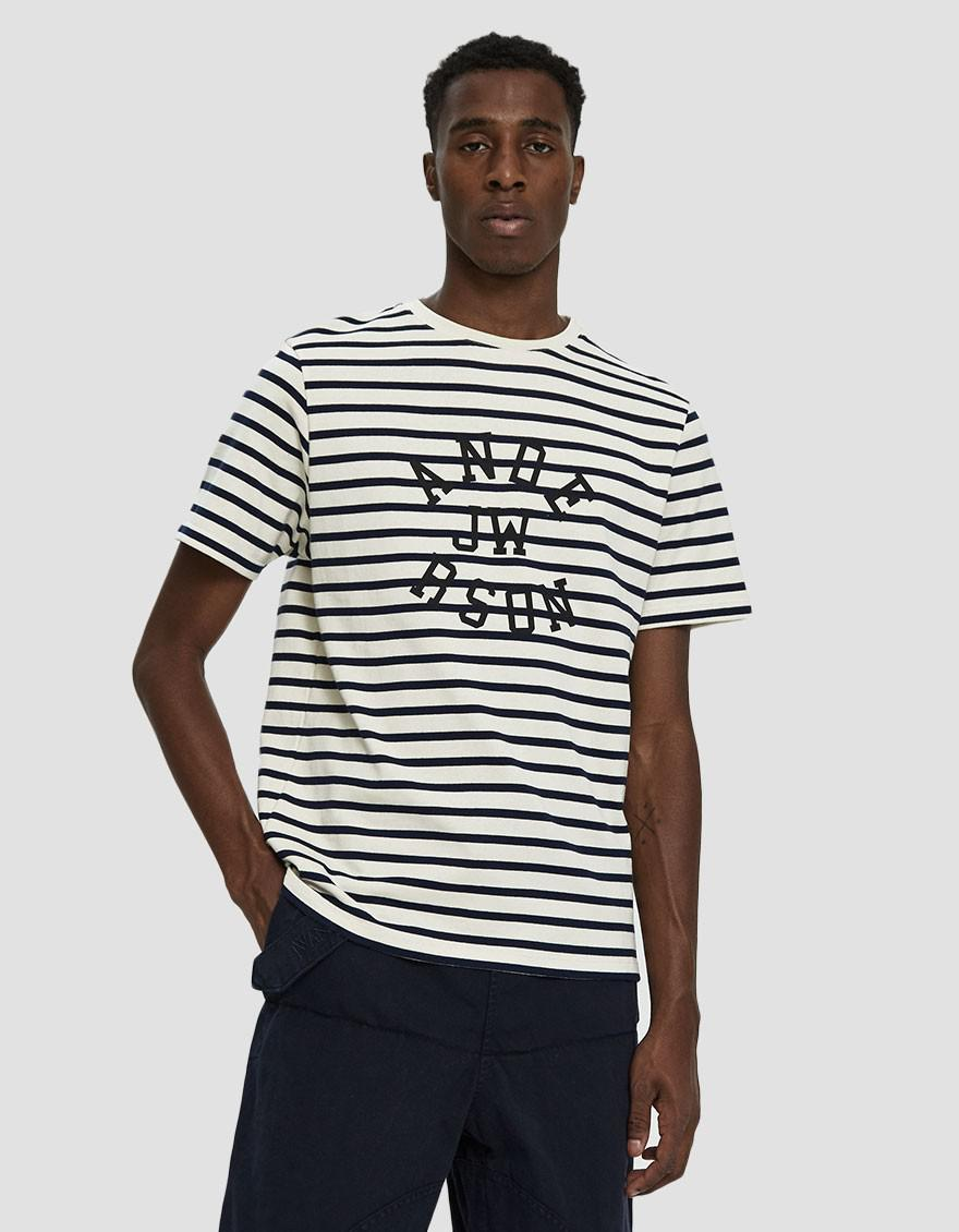249dcdd2 JW Anderson Stripe Jwa Logo Print T-shirt in White for Men - Save 71% - Lyst