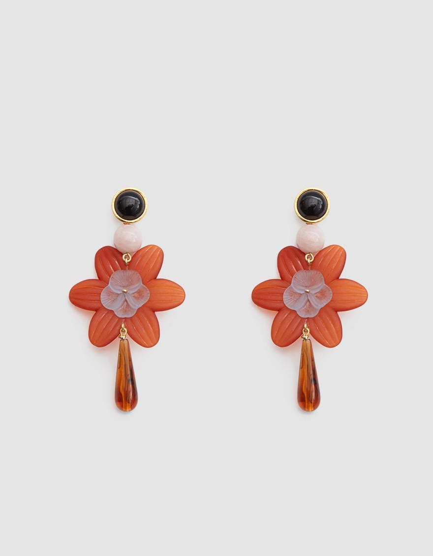 Lizzie Fortunato Sal Flower Drop Earrings iaqAJ