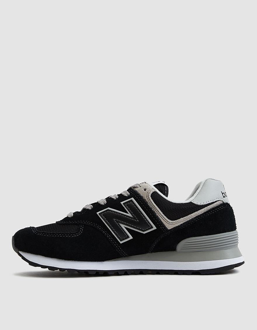 2d1bbb8efd214 Lyst - New Balance 574 Suede Sneaker in Black