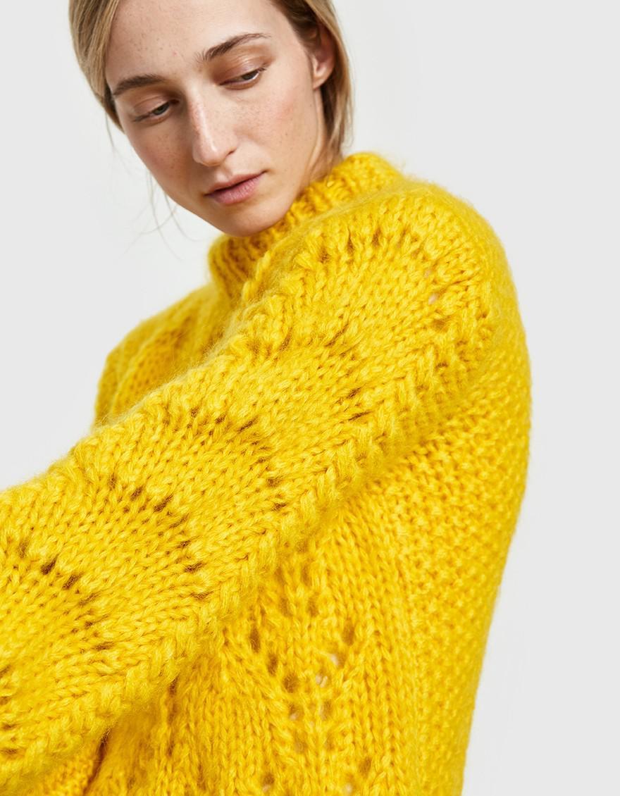 eef4331918e Ganni Julliard Mohair Pullover In Lemon in Yellow - Lyst