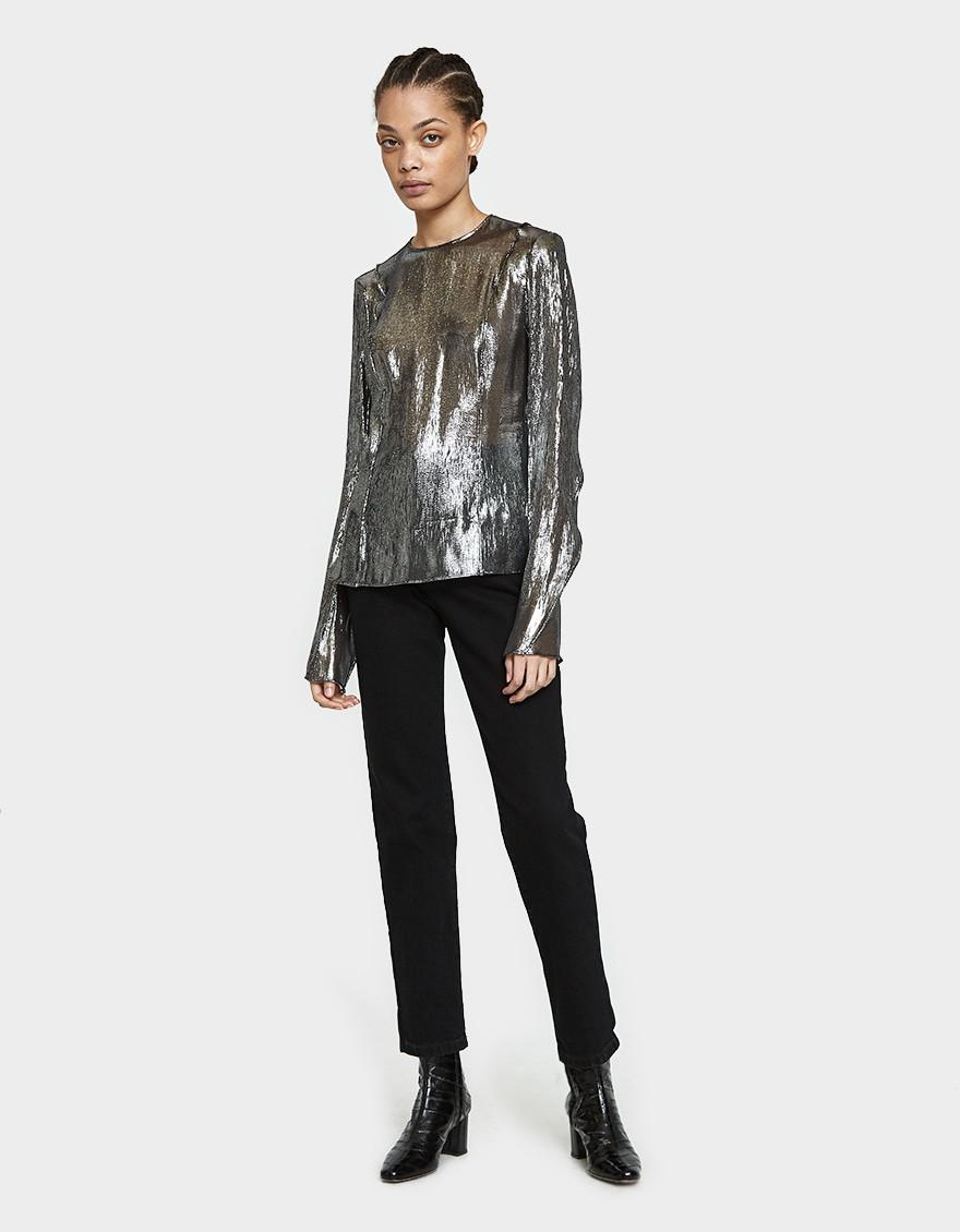 3f30c7ff06bf Lemaire Long Sleeve Tunic In Silver in Metallic - Lyst