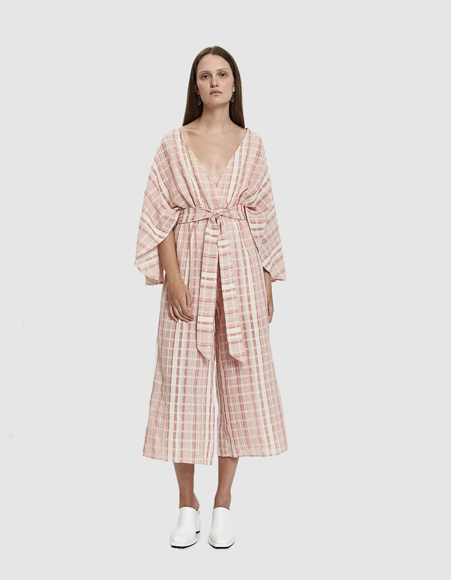 6a0087f63d38 Lyst - Farrow Blanca Striped Jumpsuit in Orange - Save 45%
