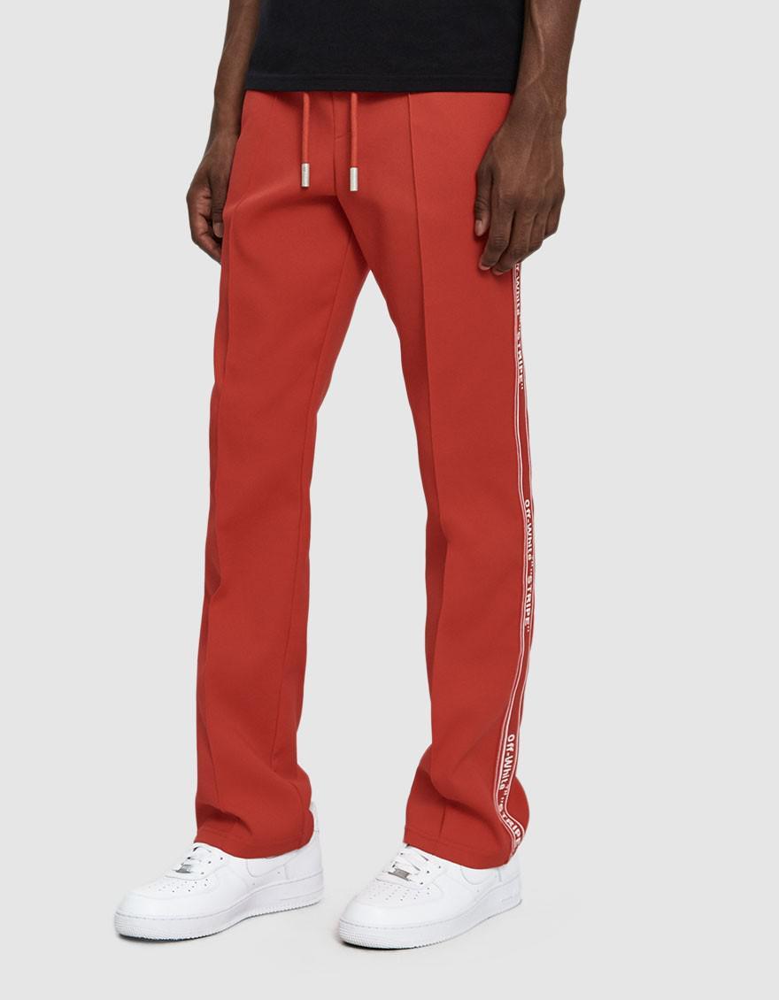 c8cbd38f Off-White c/o Virgil Abloh Logo Tape Track Pant in Red for Men - Lyst
