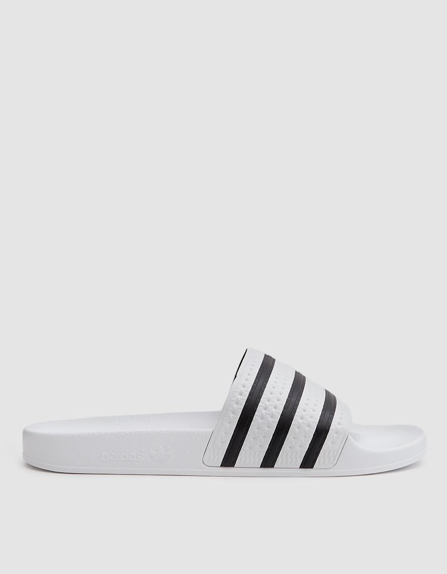 cheaper 7dcf4 b8386 adidas. Mens White Adilette Sandal